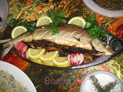 آموزش انواع ماهی   طرز تهیه ماهی سفید شکم پر ویژه عید نوروز