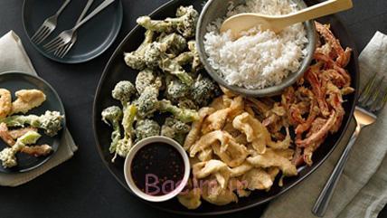 درست کردن بشقاب مرغ و سبزیجات,پخت بشقاب مرغ و سبزیجات