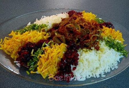 تزیینات زیبای پلو, تزیین برنج مجلسی