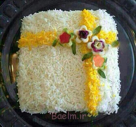 تزیین برنج و پلو,تزیین برنج