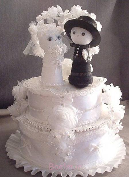 حوله عروس و داماد, چیدمان حوله عروس و داماد