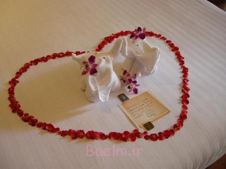 تزیین اتاق خواب عروس با گل و شمع, چیدمان اتاق خواب عروس
