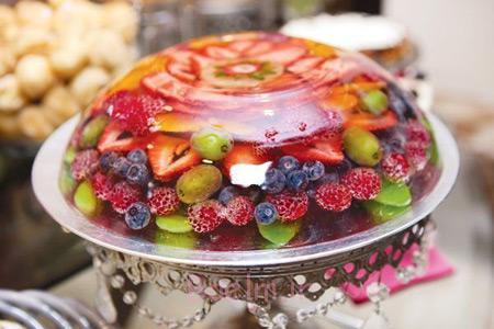 روش تزیین ژله با میوه,تزیین ژله با میوه زمستانی,تزیین ژله با میوه