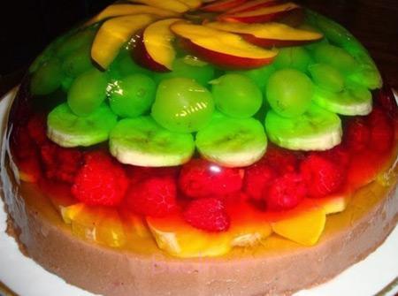 طرز تهیه ژله با میوه,تزیین ژله با میوه,ژله با میوه