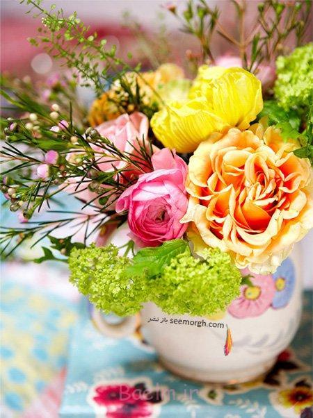 با گل های بهاری دکوراسیون تان را رنگی کنید