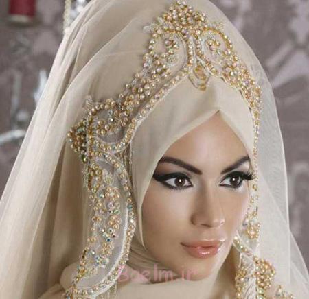 مدل تاج و شیفون عروس, شیفون عروس های محجبه