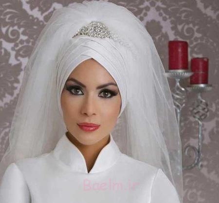 تاج و تور محجبه, تاج و تور محجبه عروس