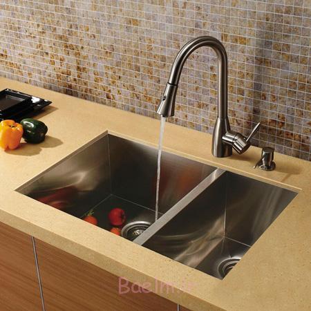 طراحی سینک های ظرفشویی مدرن,مدل های جدید سینک برای آشپزخانه های شیک