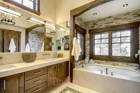 طراحی دیوار حمام,طراحی و چیدمان حمام