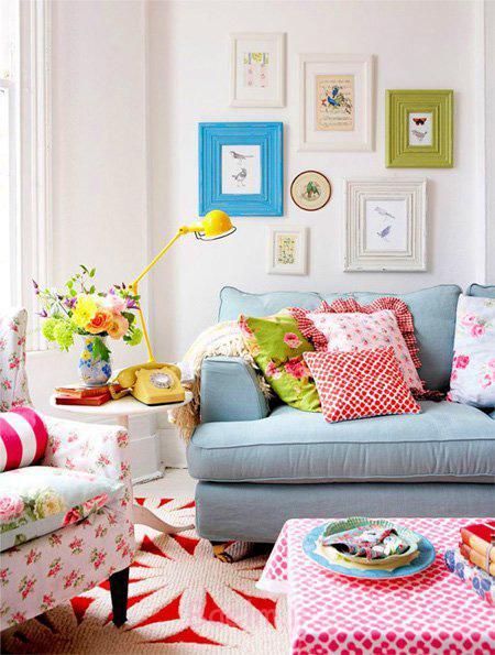 دکوراسیون بهاری خانه, ترکیب رنگ های بهاری برای دکوراسیون خانه