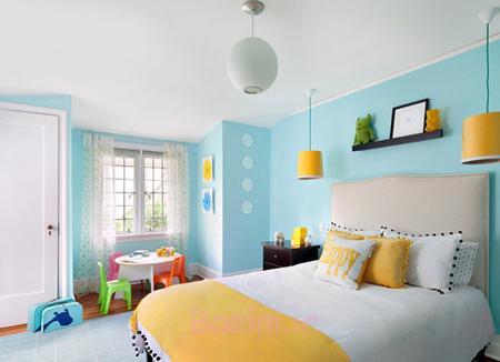 ایده هایی برای دکوراسیون خانه به رنگ سال 95,اصول چیدمان خانه به رنگ آبی