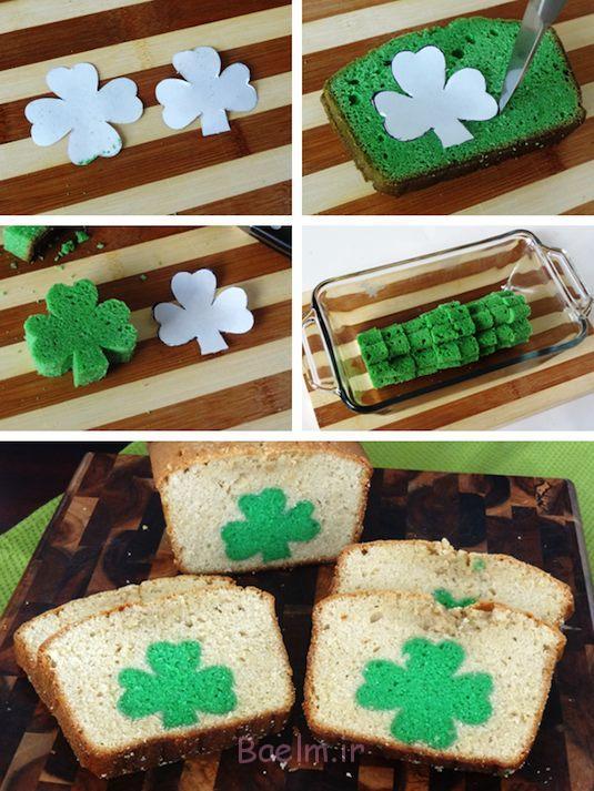 30-سورپرایز-داخل-کیک-درمان-ایده-رنگ سبز شبدری کیک