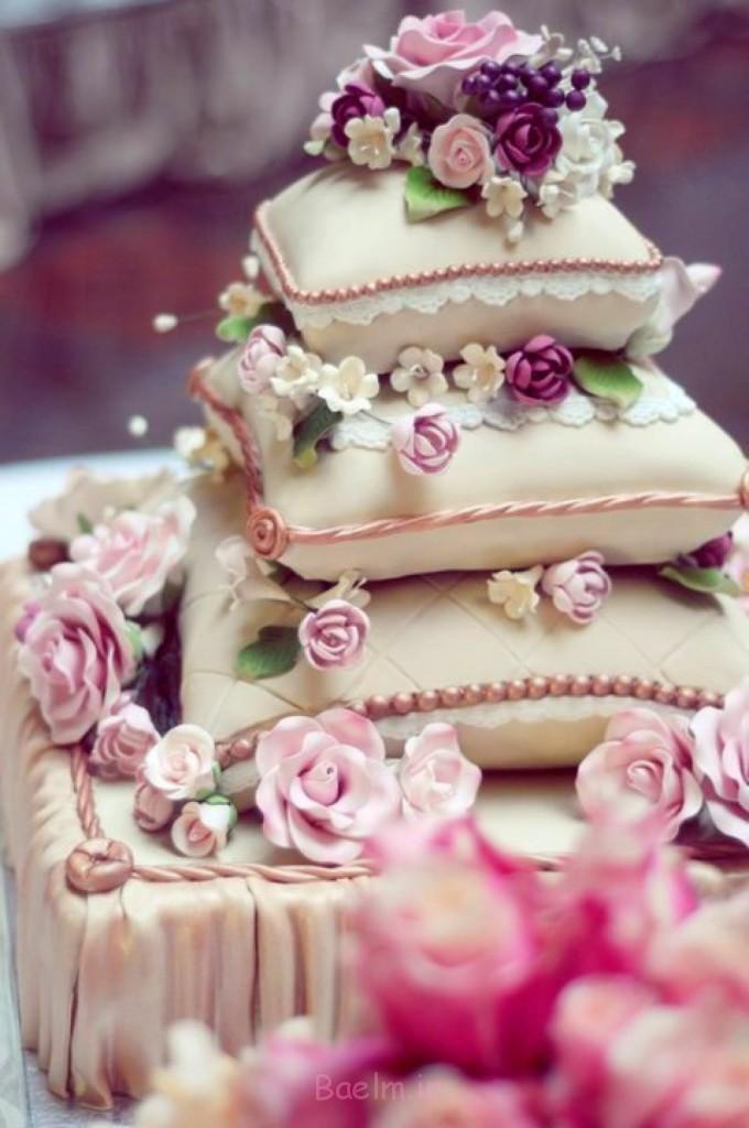کیک زیبا بالش