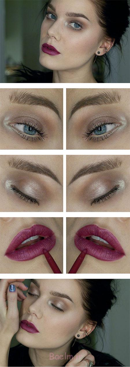 Easy-Step-By-Step-Christmas-Make-Up-Tutorials-For-Beginners-Learners-2014-5