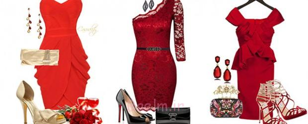 Polyvore-ولنتاین-روز-گاه به گاه-قرمز-کوتاه-بلند-لباس-ایده-برای-دختران-زنان-2014