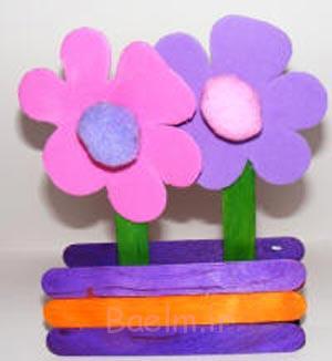 کاردستی کودکانه برای روز مادر,کاردستی جعبه گل برای روز مادر