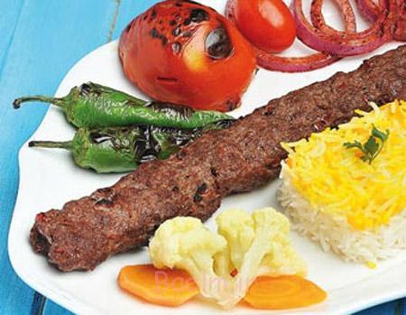 تزیین کباب تابه ای,تزیین کباب,تزیین کباب کوبیده