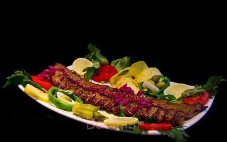 تزیین کباب تابه ای,تزیین کباب ها,تزیین کباب ماهیتابه ای
