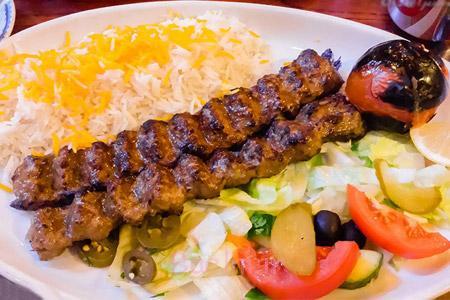 تزیین کباب,تزیین کباب کوبیده,تزیین کباب تابه ای