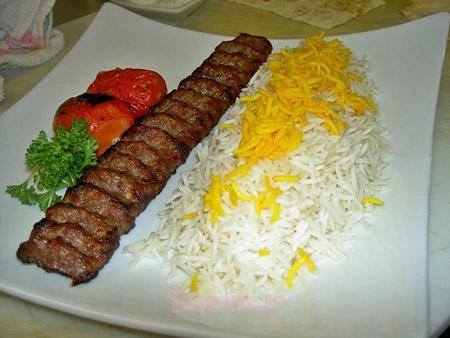 تزیین کباب کوبیده,تزیین کباب تابه ای,تزیین کباب