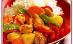 آموزش غذاهای خارجی | مواد لازم و طرز تهیه جوجه ترش و شیرین (غذای سنتی چینی)
