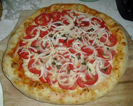 تهیه پیتزا پیاز, طرز پخت پیتزا پیاز