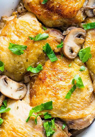 پخت مرغ سوخاری با سس قارچ,طرز تهیه مرغ سوخاری با سس قارچ