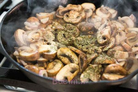 طرز تهیه مرغ سوخاری با سس قارچ, درست کردن مرغ با سس قارچ
