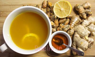 طرز تهیه دمنوش زنجبیل با عسل و لیمو,درست کردن دمنوش زنجبیل با عسل و لیمو