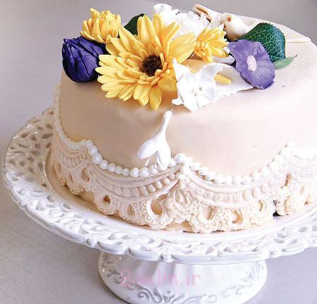 مواد لازم برای خمیر فوندانت, تزیین کیک با خمیر فوندانت