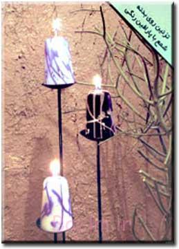 آموزش تزئین روی بدنه شمع با پارافین رنگی