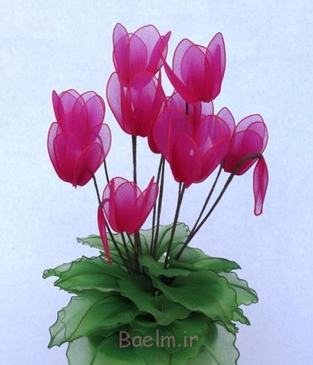 ساخت گل های لاله با جوراب, درست کردن گل لیلوم با جوراب