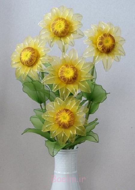 مدل های گل با جوراب, ساخت گل های لاله با جوراب