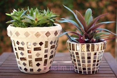 آموزش تزیین گلدان, تزیین گلدان های ساده