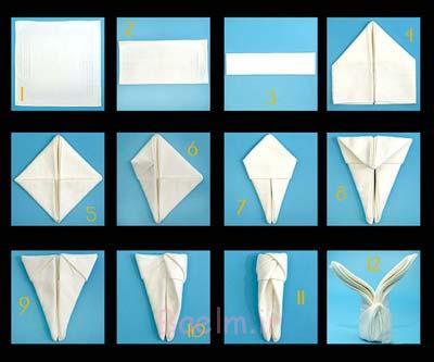 آموزش تصویری تزیین دستمال سفره, تزیین دستمال سفره