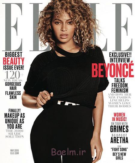 عکس های جدید بیانسه روی مجله ال Elle,چاپ جدیدترین عکس های بیانسه روی مجله ال