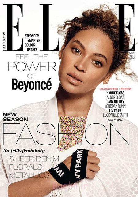 عکس های بیانسه روی مجله ال Elle,تصاویر بیانسه روی مجله ال Elle