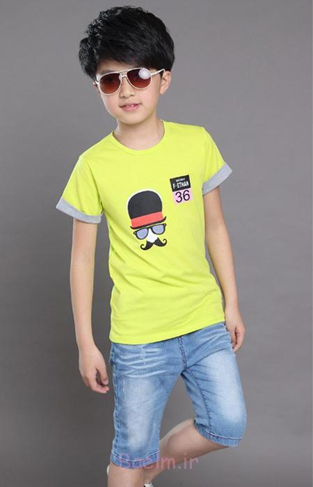 شیک ترین لباس پسرانه, جدیدترین مدل تی شرت و شلوارک پسرانه