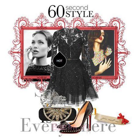 ست کردن لباس به سبک آنجلینا جولی,مدل ست کردن لباس شب به سبک آنجلینا جولی