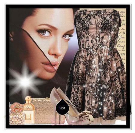 روش های ست کردن لباس به سبک آنجلینا جولی, ست لباس شب