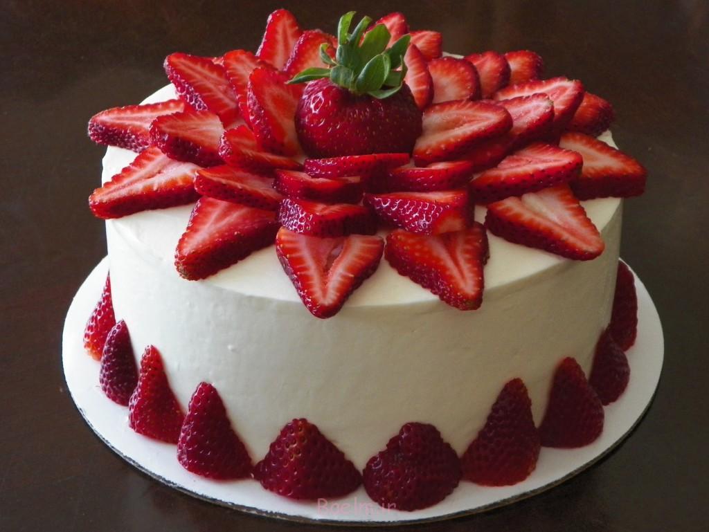 توت فرنگی کیک-8 اینچی