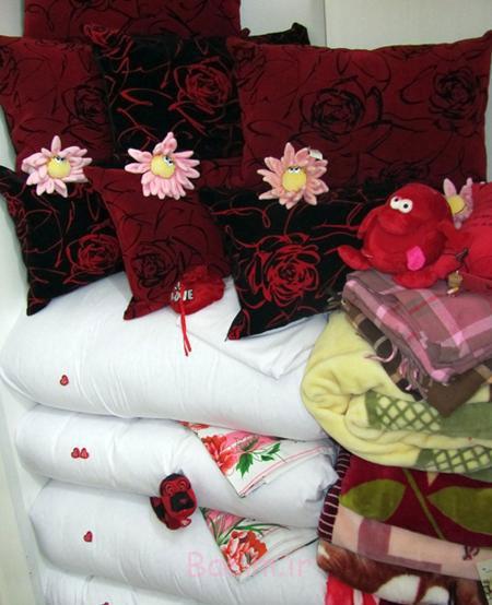 عکس جهیزیه عروس,تزیین جهیزیه عروس جدید,چیدن جهیزیه عروس