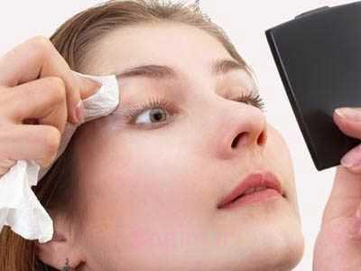Image result for قبل از خواب آرایش خود را پاک کنید!