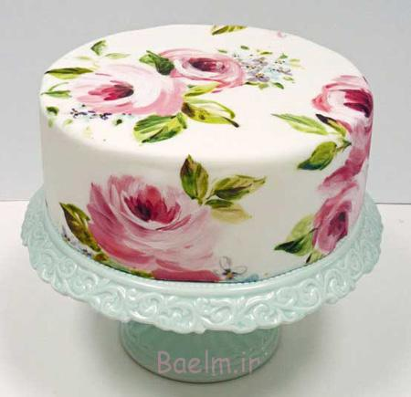 نقاشی روی کیک با خامه,طراحی روی کیک تولد,تزیین روی کیک