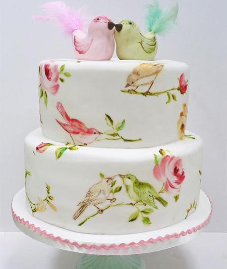 کشیدن نقاشی روی کیک,طراحی روی کیک,نقاشی روی کیک با خامه