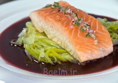 درست کردن ماهی سالمون سرخ شده با تره فرنگی,نحوه طبخ ماهی سالمون