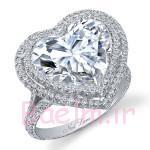 به شکل قلب الماس حلقه-0
