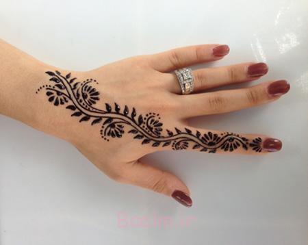 عکس نقش حنا بر روی دست,نقش حنا برای دست,نقش حنا