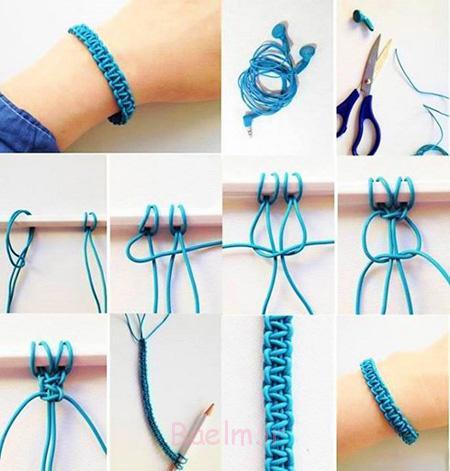 آموزش بافت دستبند,نحوه بافت دستبند