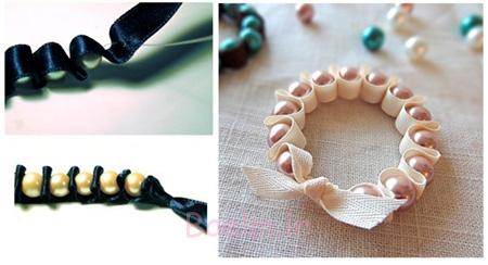آموزش تصویری درست کردن دستبند, درست کردن دستبند با نخ های رنگی